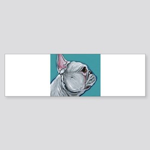 White French Bulldog Bumper Sticker