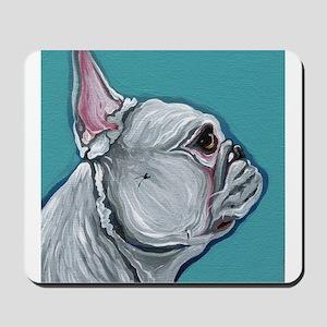 White French Bulldog Mousepad