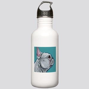 White French Bulldog Water Bottle