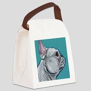 White French Bulldog Canvas Lunch Bag