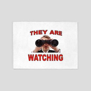 WATCHING YOU 5'x7'Area Rug