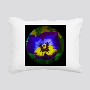 Pretty Pansy Rectangular Canvas Pillow