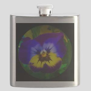 Pretty Pansy Flask
