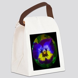 Pretty Pansy Canvas Lunch Bag
