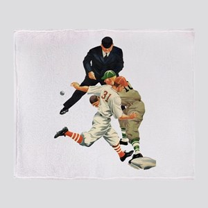 Vintage Sports Baseball Throw Blanket