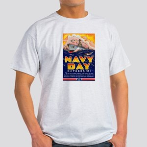 Navy Day for Sailors (Front) Light T-Shirt