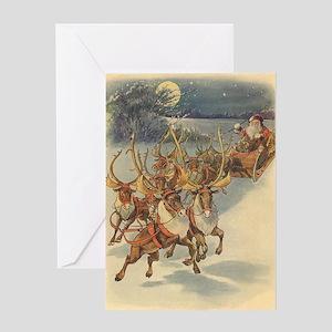 Vintage Christmas Santa Claus Greeting Cards