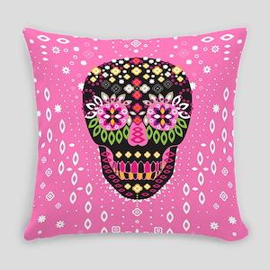 Sweet Sugar Skull - Pink Everyday Pillow