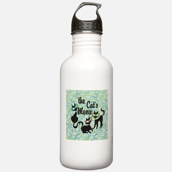 The Cat's Meow Teal Water Bottle