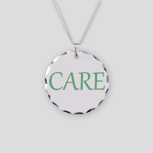 Care Necklace Circle Charm
