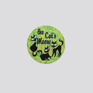 The Cat's Meow Green Mini Button
