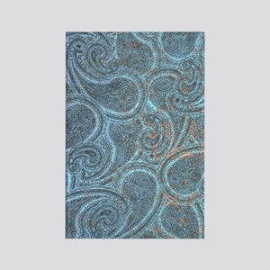 Blue Paisley Rectangle Magnet