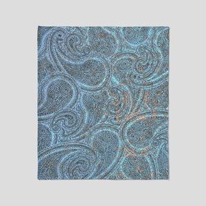 Blue Paisley Throw Blanket