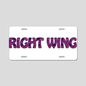 Right Wing Aluminum License Plate
