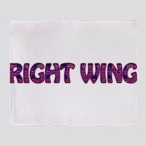 Right Wing Throw Blanket