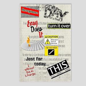 12 Step Slogans Postcards (Package of 8)