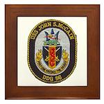 USS JOHN S. MCCAIN Framed Tile