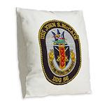 USS JOHN S. MCCAIN Burlap Throw Pillow
