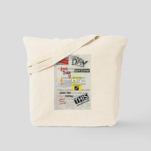12 Step Slogans Tote Bag