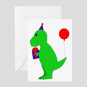 Birthday T Rex Greeting Cards