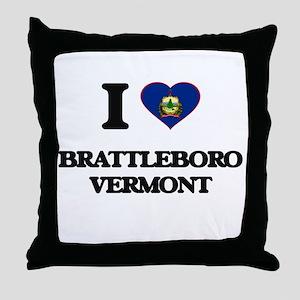 I love Brattleboro Vermont Throw Pillow
