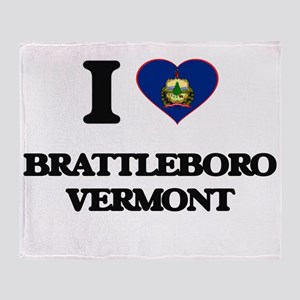 I love Brattleboro Vermont Throw Blanket