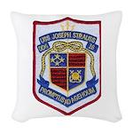 USS JOSEPH STRAUSS Woven Throw Pillow