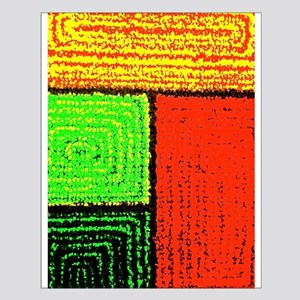 Textured Rectangles Posters Small Poster