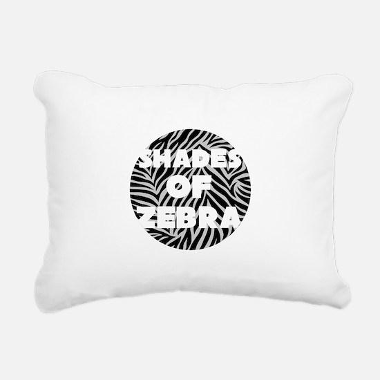 Shades of Zebra Rectangular Canvas Pillow