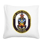 USS JACK WILLIAMS Square Canvas Pillow