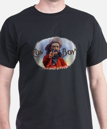 Vintage Cigar Label Art, Cowboy Hits the M T-Shirt