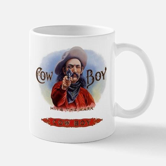 Vintage Cigar Label Cowboy Mug