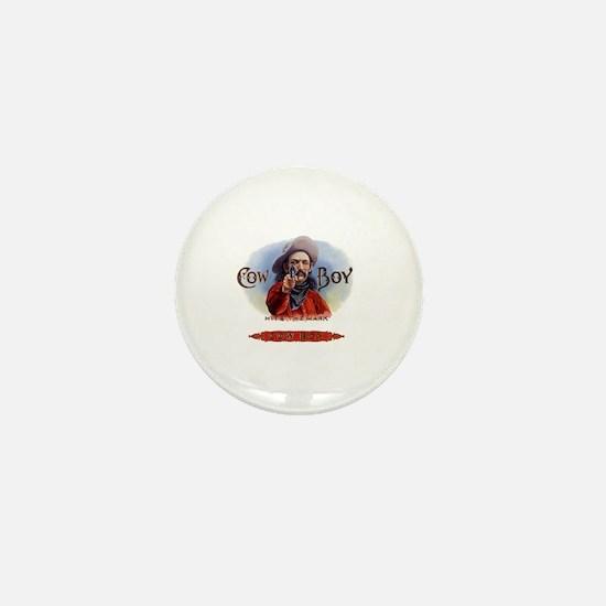 Vintage Cigar Label Cowboy Mini Button