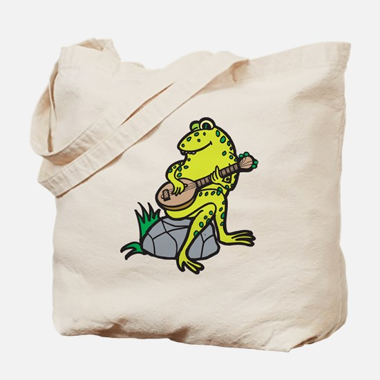 Silly Frog Play Guitar Tote Bag