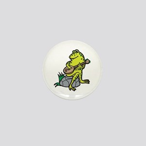 Silly Frog Play Guitar Mini Button