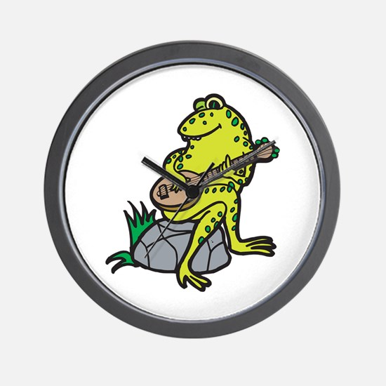 Silly Frog Play Guitar Wall Clock
