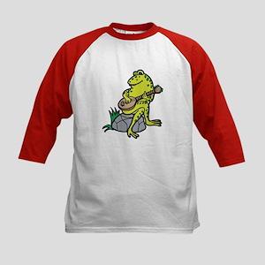 Silly Frog Play Guitar Kids Baseball Jersey