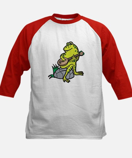 Silly Frog Play Guitar Kids Baseball Jersey