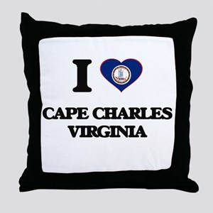 I love Cape Charles Virginia Throw Pillow