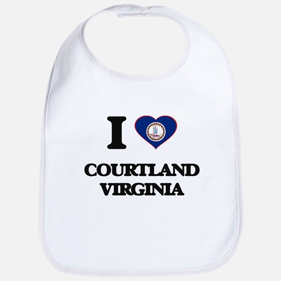 I love Courtland Virginia Bib