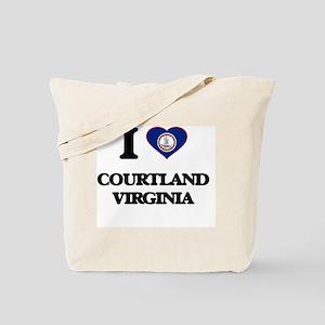 I love Courtland Virginia Tote Bag