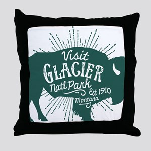 Glacier Buffalo Sunburst Throw Pillow