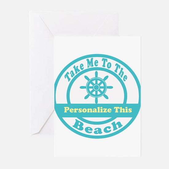 Personalized Beach Greeting Cards (pk Of 10)