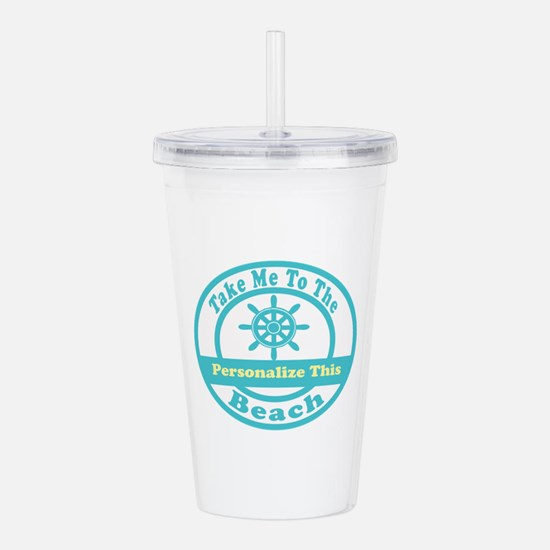 Personalized Beach Acrylic Double-Wall Tumbler