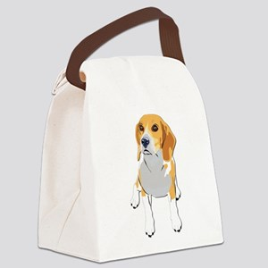 Beagles without text Canvas Lunch Bag