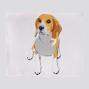 Beagles without text Throw Blanket