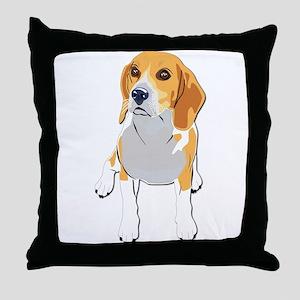 Beagles without text Throw Pillow