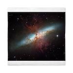 Hubble Starburst Galaxy M82 Queen Duvet Cover