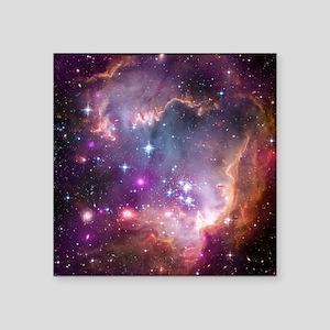 "galaxy stars space nebula p Square Sticker 3"" x 3"""