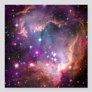 "galaxy stars space nebul Square Car Magnet 3"" x 3"""